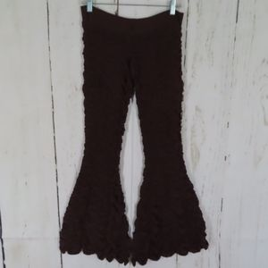 Festival Earth Mama Yoga Pants Rucked Knit Low Cut